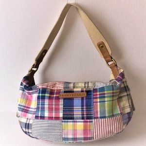 Vintage Tommy Hilfiger Patchwork Shoulder Tote Bag